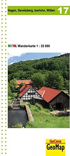 Hagen, Gevelsberg, Iserlohn, Witten Blatt 17, topographische Wanderkarte NRW: 1:25.000