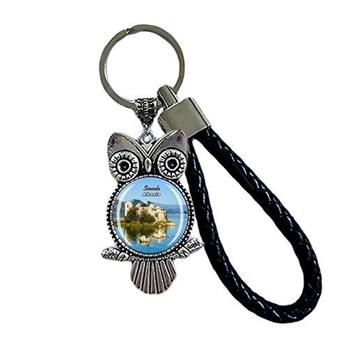 Time Traveler Go Saranda Albanien Kreative Tier Eule Schlüsselanhänger Rucksack Anhänger Geschenk Tasche Dekoration Reise Souvenir