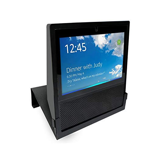 Join2Top Original Stand Holder Wall Mount Bracket for Echo Show Home Speaker - (Camera's) Angle Parallel to The Wall and Protect Echo Show Charger Cords Organizor, Easy to Install (Black Solid Metal)