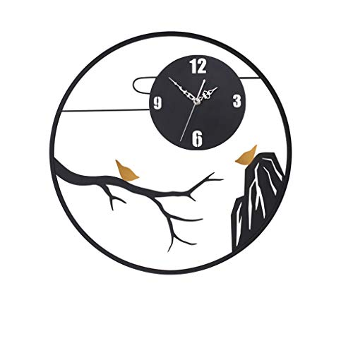 zxb-shop Orologio da Parete Stile Cinese Soggiorno Orologio Creativo della Decorazione della casa Mute Orologio da Parete Orologio Orologio da Muro