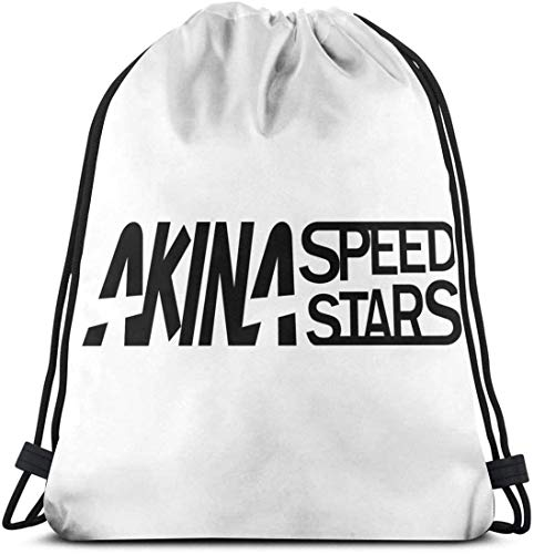 QiangQ Bolso con cordón Drawstring Bag Sport Gym Sack Party Favor Bags Wrapping Gift Bag Drawstring Backpacks Storage Goodie Bags Cinch Bags - Akina Speed Stars Initial D