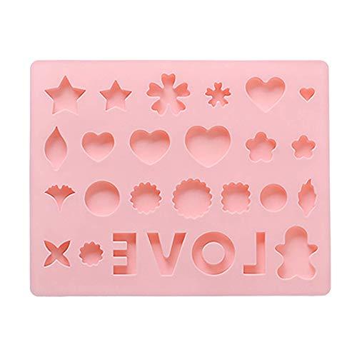 SODAL Moldes de silicona multiusos para tartas, diseño de corazón con forma de corazón y corazón, de silicona, antiadherente, ideal para hacer cubitos de hielo