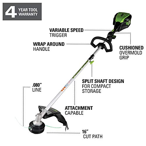 Greenworks PRO 80V 16 inch Cordless String Trimmer (Attachment Capable), Tool Only, GST80320