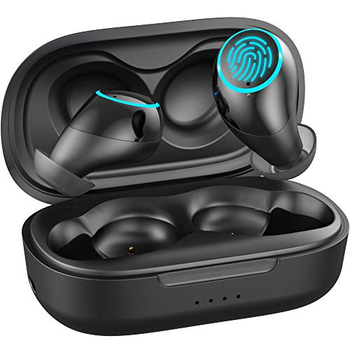 41j509MDySL. SL500  - Bluetooth Earbuds, Wirezoll Bluetooth 5.0 True Wireless Stereo In Ear Headphones with Charging Case, Waterproof Sport Hi-Fi Earphones with Deep Bass and Built-in Mic