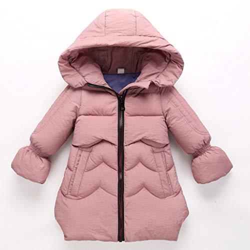 Luoluoluo gewatteerde jas voor meisjes 3-8 jaar jas van katoen voorjaar herfst winter jas met capuchon kleine kinderen warm winterjas kinderen trenchcoat windjas donsjas meisje