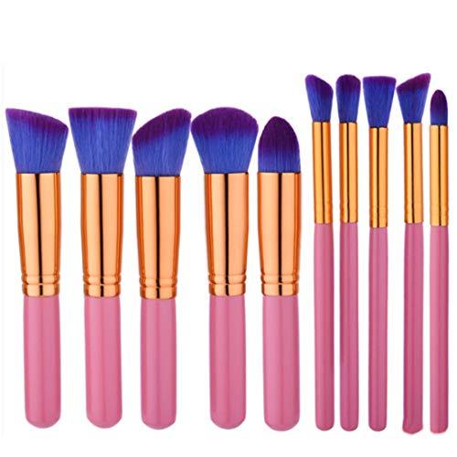 BERYLSHOP Ensemble de pinceaux de maquillage Outils Trousse de toilette de maquillage Pinceau cosmétique en nylon Pinceau for les yeux (Couleur : 10-Piece)