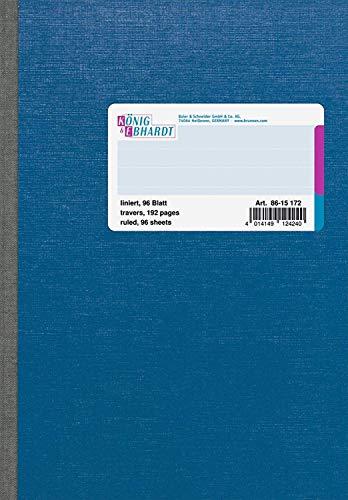 König & Ebhardt 8615172 Kladde / Notizheft (A5, 96 Blatt, liniert, 70g/m²)