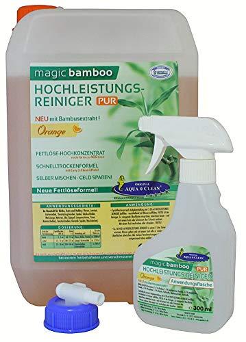 AQUA CLEAN Magic Bamboo Hochleistungsreiniger 5l Hochkonzentrat (Orange)