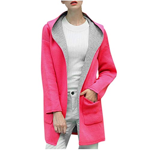 Buy Bargain Dainzuy Womens Winter Lapel Wool Coat Trench Jacket Long Sleeve Button Cardigan Hooded P...