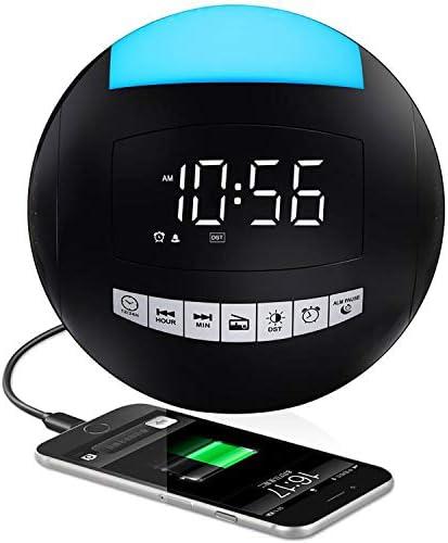 Digital Alarm Clock Radio for Bedroom FM Radio with Sleep Timer Portable Loud LED Clock for product image