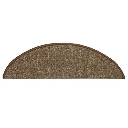 Mirui 15 Conjunto de Escalera de la Escalera de ratón tapetes Antideslizante Paso Alfombra Auto Adhesivo Alfombra de Escalera Calchotenas Huella de peldaño (Color : Brown, Size : 9 in x 25 in)