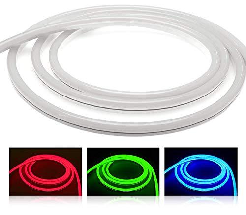 LEDUX RGB Neon LED Streifen IP65 Wassergeschützt für Innen und Außen (RGB, 4meter)