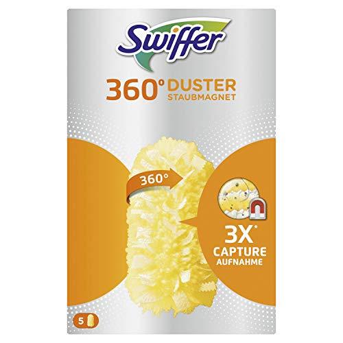 Swiffer Duster 360° Starter Kit Ricambi Per Piumino 5 Pezzi, Cattura E Intrappola La Polvere