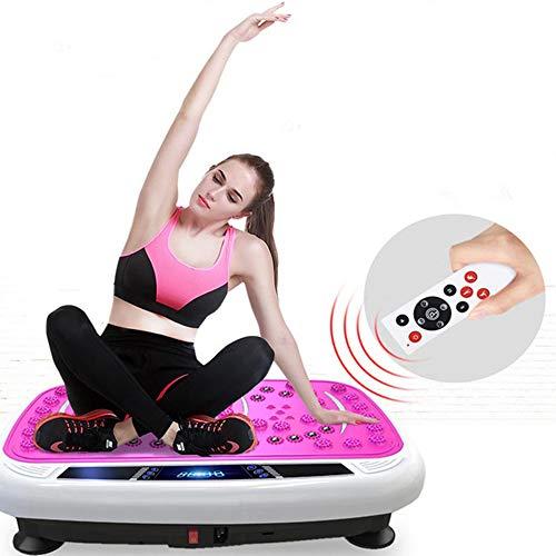 Macchine a Piattaforma Vibrante con Telecomando e 2 Fasce Elastiche per Allenamento Supporto 120kg Ancheer 3D Fitness Pedana Vibrante Professionale Massaggiante Oscillante Dimagrante Blu