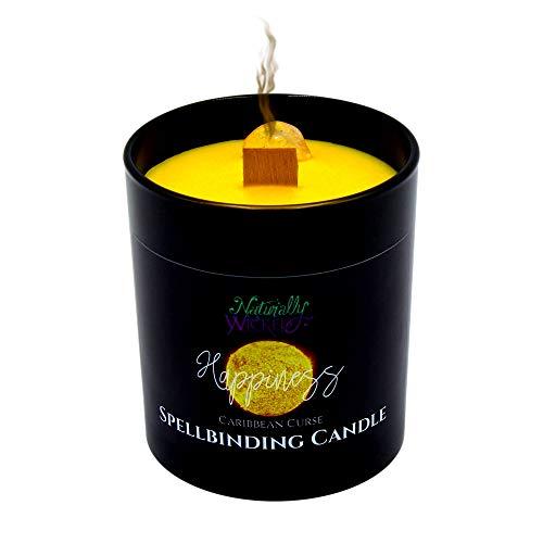 Naturally Wicked® Spellbinding Happiness Kerze | Werfen Sie Ihren eigenen Glückszauber | Natürliches, veganes & tierversuchsfreies Sojawachs | Tolles Geschenk