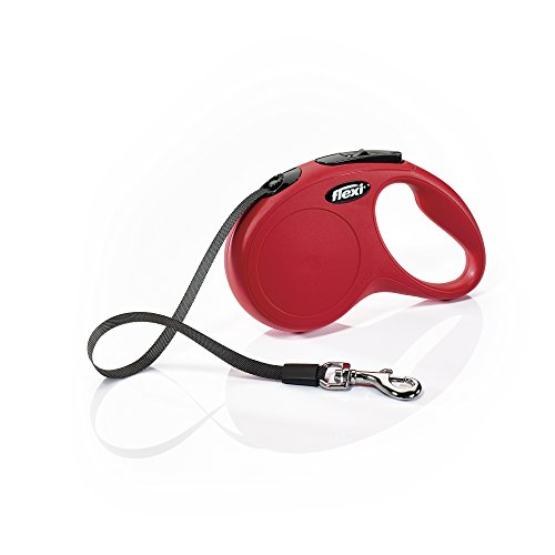 Flexi CL10T5.250.R Hundeleine, einziehbar, klassisches Design, 4,88 m, klein, Rot