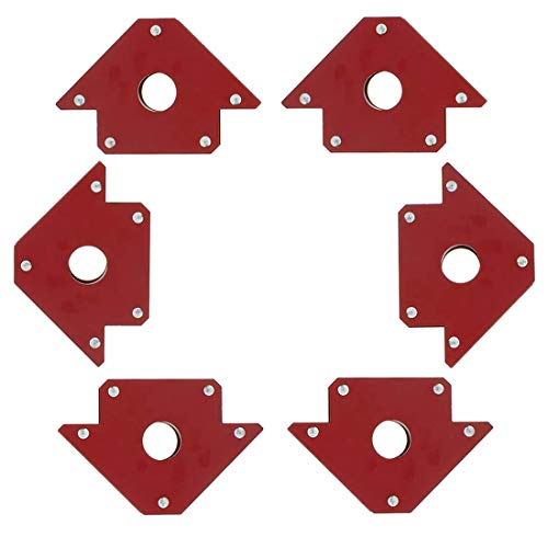 Magnet Welding Clamps 50LB Strong Arrow Welding Tools 6 Pcs Magnetic Square Holder, 45 90 135 Degree Angle