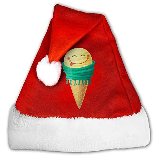 Sombrero de Papá Noel unisex con diseño geométrico y poligonal, cómodo, rojo y blanco de felpa, para fiesta de Navidad