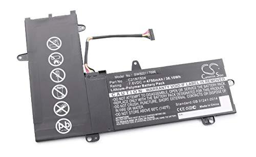 vhbw Batería Recargable Compatible con ASUS Transformer Book 11,6, TP200S, TP200SA, TP200SA3050 Notebook (4750 mAh, 7,6 V, polímero de Litio)