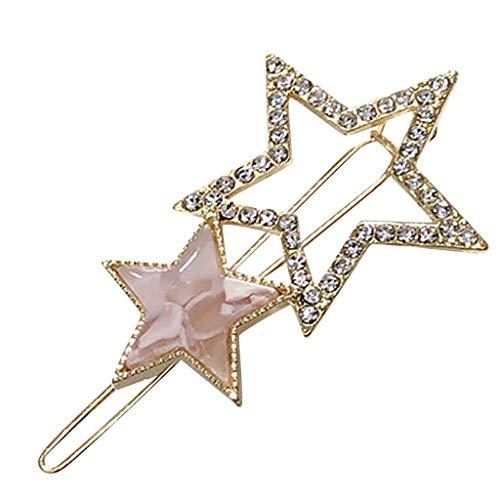 Supersu Damen Mode Pentagramm Haarclips Hochzeit Haarspangen Haarspange Haar Zubehör Set Barrettes Vintage Haarschmuck Geschenke Accessoires Für