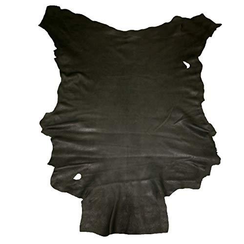 Glacier Wear First Quality Buckskin Leather - Black (7.00 to 7.75 sq ft)
