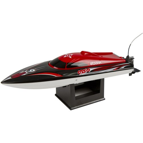 Steerix STRX-9 Electric Mini Vee Hull RC Racing Boat Red/Black RTR