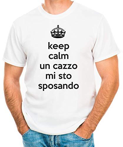 Hero Tee T-Shirt Addio al Celibato Keep Calm Un c. Mi STO sposando - Maglia Uomo