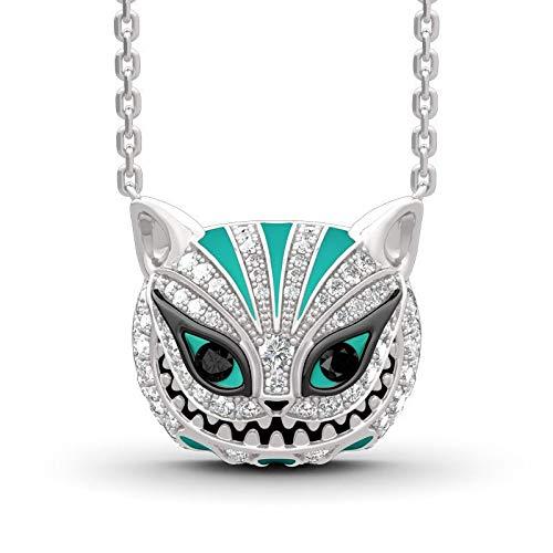 QAZXCV Collar De Ojo De Gato De Diamante Americana Colgante Lindo Animal Esmalte Cristal Collar Collar Punk Joyería Mujer Regalo