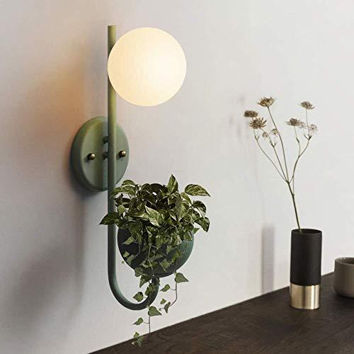 YANQING Duurzame Eenvoudige Moderne Scandinavische Macaron Plant Wandlamp Ronde Groene Verlichting 3-10 Vierkante Slaapkamer Woonkamer Café Studie
