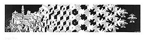 M.C. Escher – Metamorphosis I Stampa Artistica Poster (91,44 x 25,40 cm)