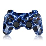 PS3 Controller Wireless Double Shock Remote for Playstation 3 GamePad with Charge Cord
