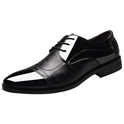 Zapatos Oxford Hombre, QinMM Cuero Cordones Vestir Calzado Boda Negocios