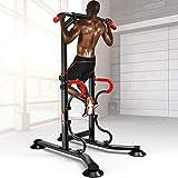 KUANDARMX Chaise Romaine Barre De Traction Musculation Station Traction Dips pour L'entraînement à La Maison Barres Fonctionnelles Simples Et Parallèles, Black