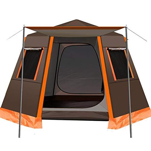 Poste de Aluminio Hexagonal UV automático para Acampar al Aire Libre Tienda Grande Salvaje 3-4 Personas toldo pérgola de jardín 245 * 245 * 165 CM