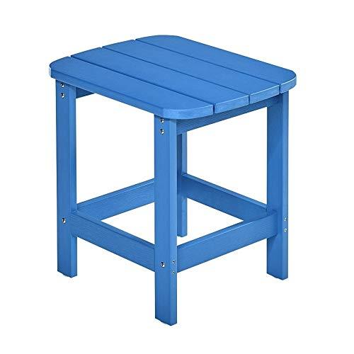 NEG Design Adirondack Tisch Marcy (blau) Westport-Table/Beistelltisch aus Polywood-Kunststoff (Holzoptik, wetterfest, UV- und farbbeständig)