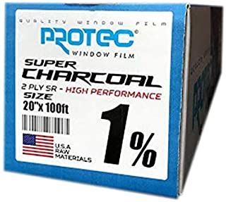 Pro-Tec Window Tint Charcoal 35/% HIGH Performance 36 x100ft PROTEC 1PLY Home CAR Office Truck Film ROLL