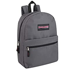 BACK PACK: Zipper bag, rucksack, knapsack—whatever you call it, this one is a throwback to classic style COLORFUL BACKPACK: Choose from an assortment of green, light blue, grey, pink, coral, peach, navy, red, & black backpacks with a fun splash of co...