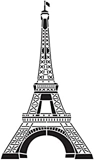 Eiffel Tower Stencil by StudioR12 | Reusable Vertical Mylar Template | Paint Tall Wood Sign | Craft French Home Decor Wall Art | Rustic DIY Paris France Silhouette (14