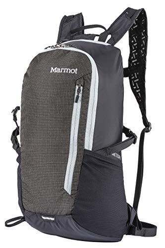 Marmot Ultraleichter Wanderrucksack, Daypack, Faltbar, 16 L Fassungsvermögen, Wiegt Nur 344 G Kompressor Meteor 16, Black/Slate Grey, 16 l, 38960