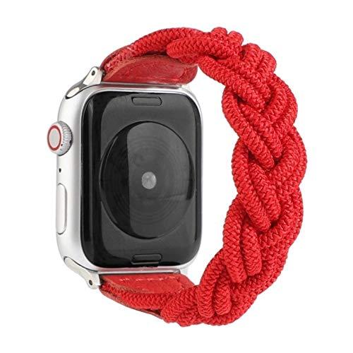 Correa de nailon trenzada de tela para Apple Watch 40MM 44MM 38MM 42MM Hombre Mujer Pulsera ajustable para iWatch 6 5 4 3 2-12, para 42MM 44MM, 150mm