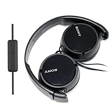 SONY Over Ear Best Stereo Extra Bass Portable Headphones Headset for Apple iPhone iPod/Samsung Galaxy / mp3 Player / 3.5mm Jack Plug Cell Phone with Mic  Dark Gray