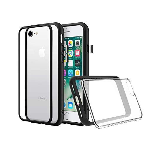 RhinoShield Coque Compatible avec [iPhone XS Max] | Mod NX - Protection Fine Personnalisable avec Technologie Absorption des Chocs [sans BPA] + [Programme de Remplacement] - Noir
