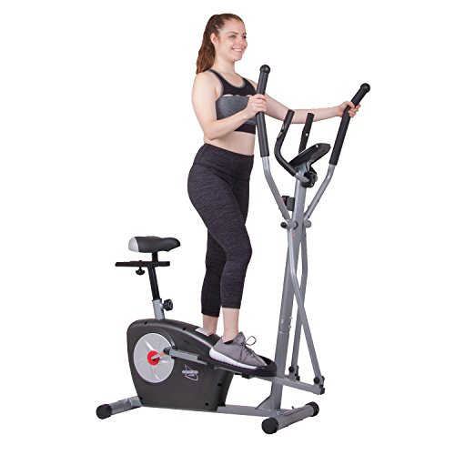 Body Rider Elliptical Trainer and Exercise Bike with Seat and Heart Rate Pulse Sensors Dual Trainer...