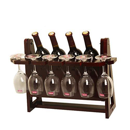 Mnjin - Botellero Creativo para Botellas de Vino, Soporte para Botellas de Vino, Soporte para Copas de Vino invertido Vertical, Soporte para Botellas de Vino Duradero (Color: B)
