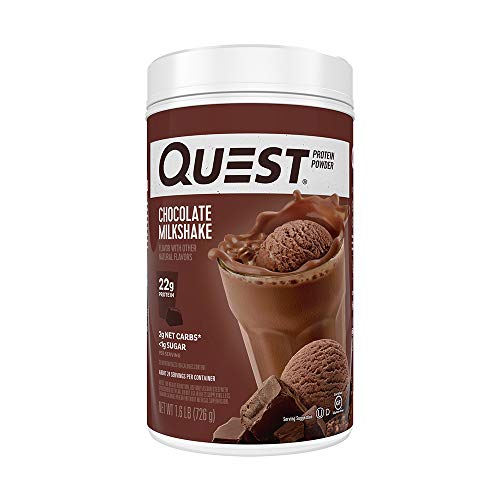 Nutrition Chocolate Milkshake Protein Powder, High Protein, Low Carb, Gluten Free, Soy Free, 1.6 lbs (Pack of 1)