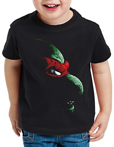 style3 Raphael Turtles T-Shirt für Kinder Teenage schildkröte Comic Mutant, Größe:128