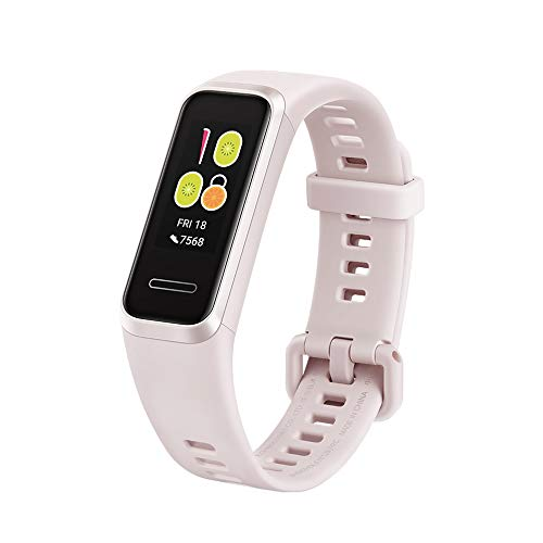 Huawei Band 4 Bluetooth Smartwatch Series, Smart Heart Tracking, Easy Charging, Waterproof, 2.5D Colorful Touch Screen, All-in-One Activity Tracker (Sakura Pink)
