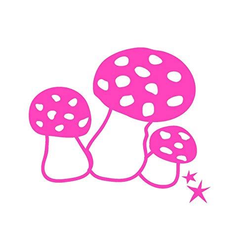 Mimilou Mini Sticker Rose Fluo Champignons