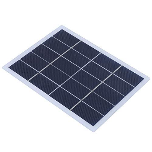 Keenso 3 W 5 V Polikrystaliczny krzemu panel słoneczny DIY panel słoneczny wyjściowa bateria ładowarka zasilacz do małych projektów gospodarstwa domowego, projektów naukowych, zastosowań elektronicznych