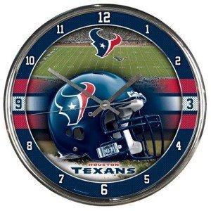 Houston Texans Ronde Chroom Wandklok